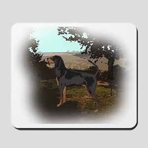 coonhound landscape Mousepad