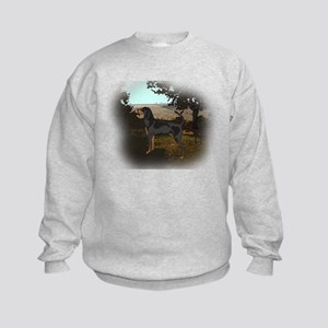 coonhound landscape Kids Sweatshirt
