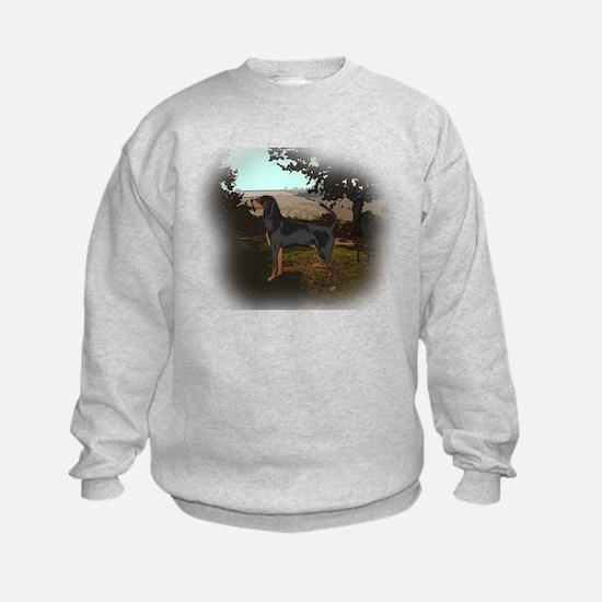 coonhound landscape Sweatshirt