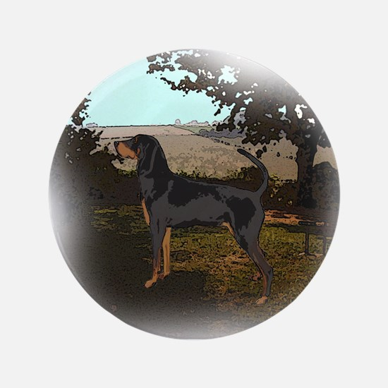 "coonhound landscape 3.5"" Button"