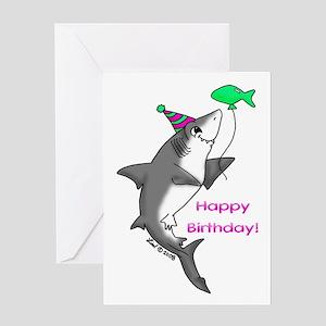 Shark greeting cards cafepress birthday shark greeting card bookmarktalkfo Gallery