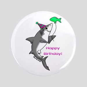 "Birthday Shark 3.5"" Button"