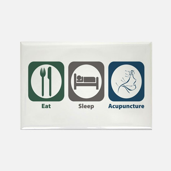 Eat Sleep Acupuncture Rectangle Magnet