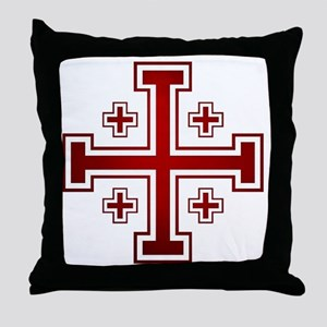Cross of Jerusalem Throw Pillow