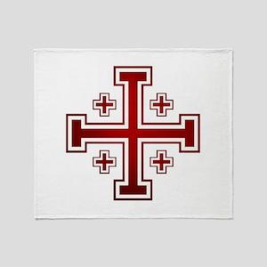 Cross of Jerusalem Throw Blanket