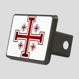 Cross of Jerusalem Rectangular Hitch Cover