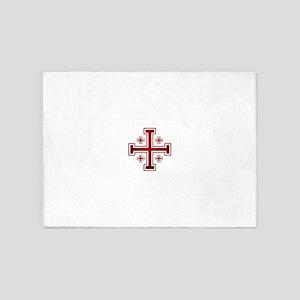 Cross of Jerusalem 5'x7'Area Rug