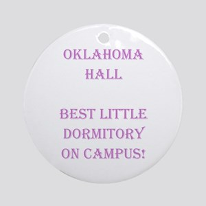 Oklahoma Hall Ornament (Round)