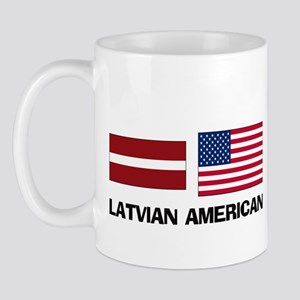 Latvian American Mug