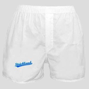 Retro Strickland (Blue) Boxer Shorts