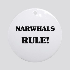 Narwhals Rule Ornament (Round)