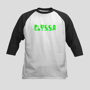 Elyssa Faded (Green) Kids Baseball Jersey