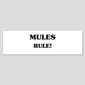 Mules Rule Bumper Sticker