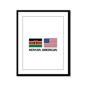 Kenyan American Framed Panel Print