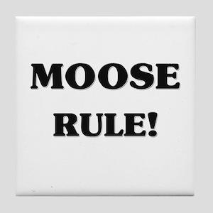 Moose Rule Tile Coaster