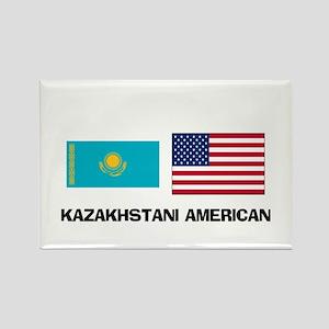 Kazakhstani American Rectangle Magnet