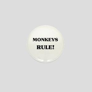 Monkeys Rule Mini Button