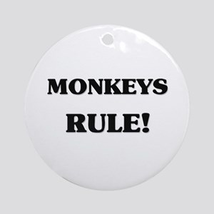 Monkeys Rule Ornament (Round)