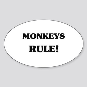 Monkeys Rule Oval Sticker