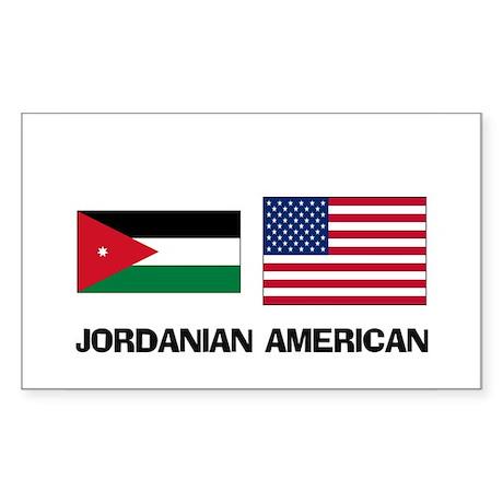Jordanian American Rectangle Sticker