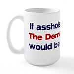 If assholes could fly... Large Mug