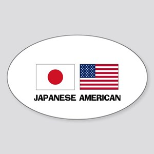 Japanese American Oval Sticker
