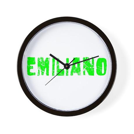 Emiliano Faded (Green) Wall Clock