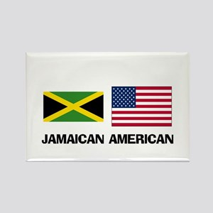 Jamaican American Rectangle Magnet