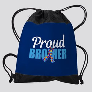 Autism Brother Pride Drawstring Bag