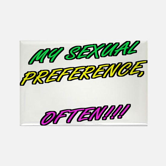 SEXUAL PREFERENCE-OFTEN! 5 Rectangle Magnet
