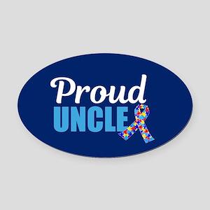 Autism Uncle Pride Oval Car Magnet