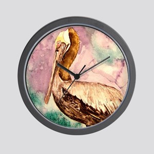 Pelican wildlife bird art Wall Clock