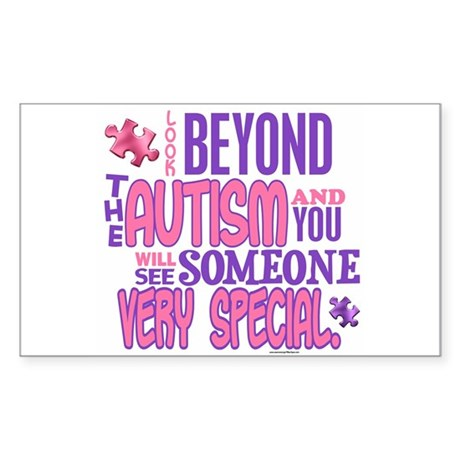Look Beyond 1.4 (AUTISM) Rectangle Sticker 10 pk)