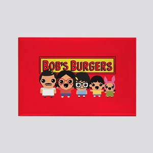 Bob's Burgers Family Rectangle Magnet