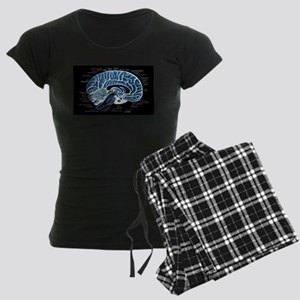 Human Brain Women's Dark Pajamas