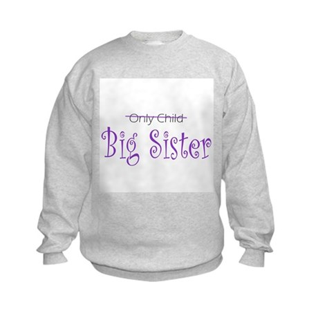 Only to Big Sis Curly Kids Sweatshirt