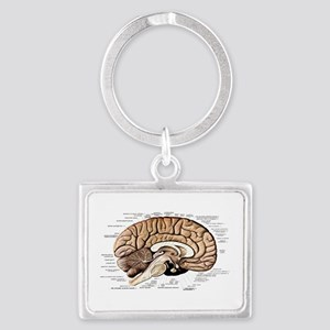 Human Brain Landscape Keychain