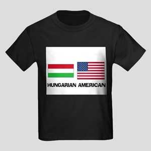 Hungarian American Kids Dark T-Shirt