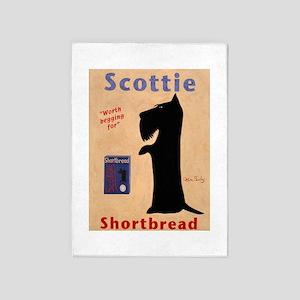Scottie Shortbread 5'x7'Area Rug