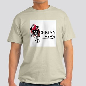 Heart Michigan Light T-Shirt