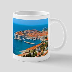 Croatia Harbor Stainless Steel Travel Mugs