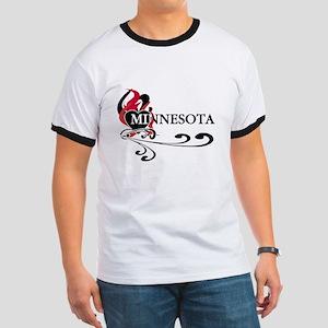 Heart Minnesota Ringer T