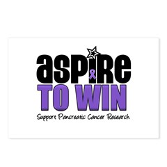 Aspire To Win (Pancreatic) Postcards (Package of 8