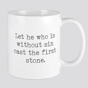 Without Sin Cast Stone Mugs