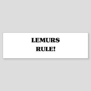 Lemurs Rule Bumper Sticker