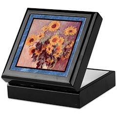Monet - Sunflowers - Keepsake Box