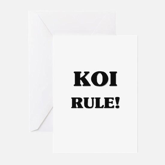 Koi Rule Greeting Cards (Pk of 10)