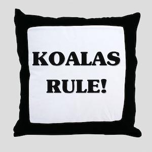Koalas Rule Throw Pillow
