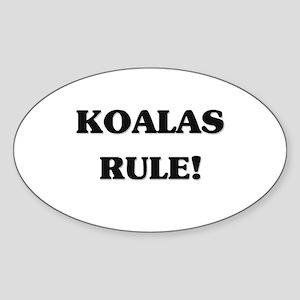 Koalas Rule Oval Sticker