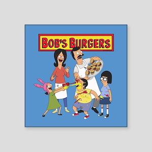 """Bob's Burgers Family Square Sticker 3"""" x 3"""""""